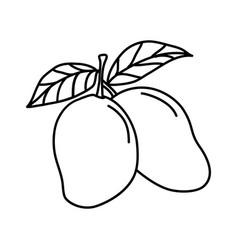 Mango fruit icon design sign vector