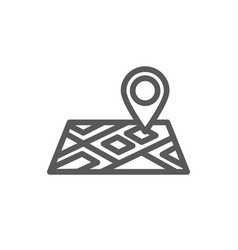 map line icon on white background vector image