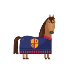 medieval warrior horse in armor vector image