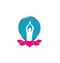 Meditation logo vector