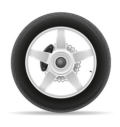 Motorcycle wheel 01 vector