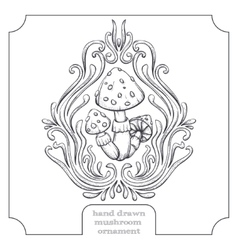 Mushroom and Abstract Pattern Five vector