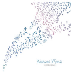 music background in cold winter colors vector image