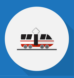 Of car symbol on tram flat vector