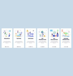 oil industry website and mobile app onboarding vector image