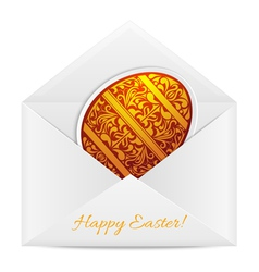 Paper envelope with a Easter Egg vector image