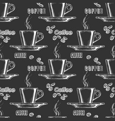 pattern with espresso cup vector image