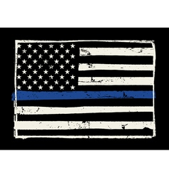 Police Support Flag Grunge Hand Drawn vector