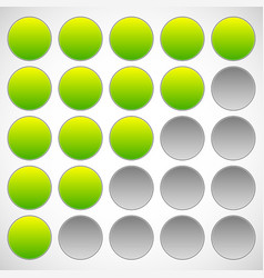 progress step phase indicators simple 5-step vector image