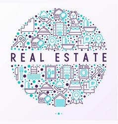 Real estate concept in circle vector