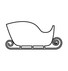 Santa claus carriage isolated icon vector