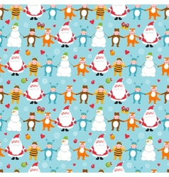 Seamless New Year pattern vector