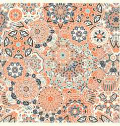 Seamless pattern of geometric mandala vector