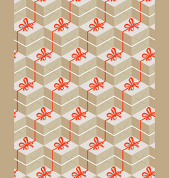 seamless pattern with gift box vector image