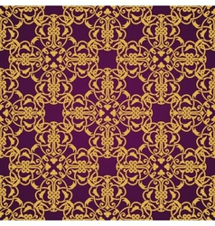 Seamless yellow and violet pattern in arabic or vector image