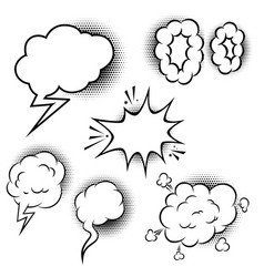 set of comic style speech balloons design vector image