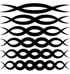 set wave patterns for decoration wave vector image