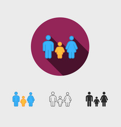 Silhouette family family icon vector