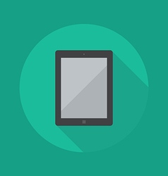 Technology Flat Icon Tablet vector image