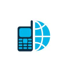 Telephone icon colored symbol premium quality vector