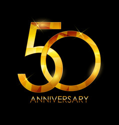 Template 50 years anniversary congratulations vector