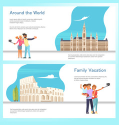 travel banner template design set vector image