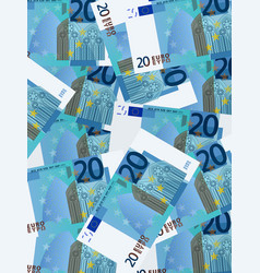 twenty euro background vertical vector image