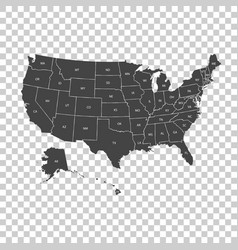 Usa map with federal states united states of vector