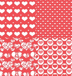 Valentine hearts seamless pattern Abstract backgr vector image