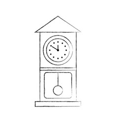 Vintage clock pendulum decoration office element vector