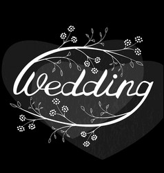 Wedding hand lettering vector