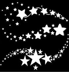 white stars icons vector image