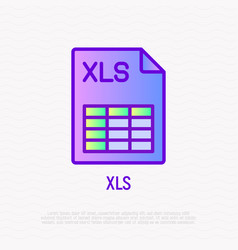 xls file format thin line icon modern vector image