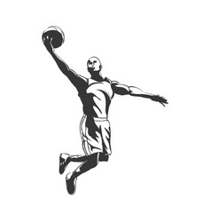 backetball silhouette vector image vector image