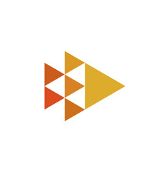 triangles minimal geometry logo design vector image