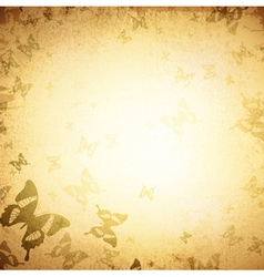 Vintage Butterfly Grunge Background vector image