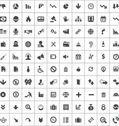 100 crisis icons vector