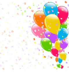 flying colorful balloons vector image vector image