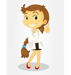Girl with long hair vector image vector image