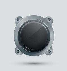 modern speaker on gray background vector image
