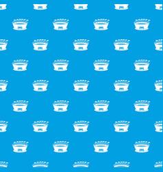 stadium pattern seamless blue vector image vector image