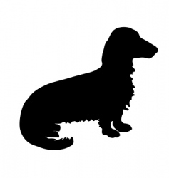 badger dog silhouette vector image vector image