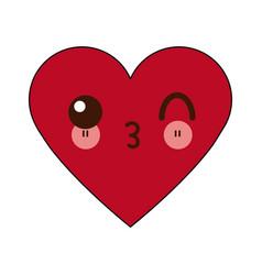 Kawaii heart healthy love feeling cartoon vector