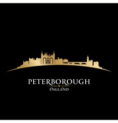 Peterborough England city skyline silhouette vector image vector image