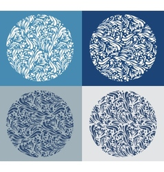 Vintage blue Christmas background vector image vector image