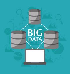 big data server storage information transfer vector image