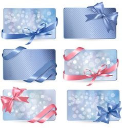 colorful Gift cards vector image vector image