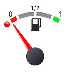fuel gauge scale empty tank vector image vector image