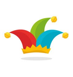 harlequin hat funny icon vector image
