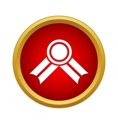 Medal icon in simple style vector image